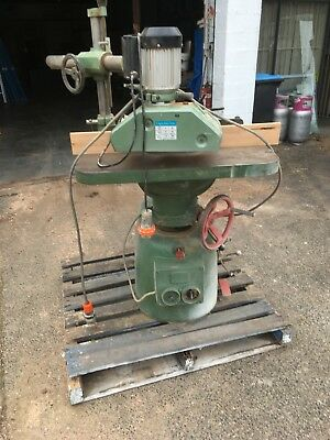 spindle moulder with power feeder. Three phase