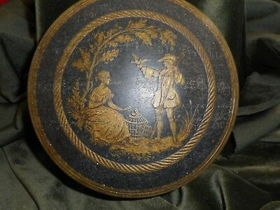 Genuine antique collectable small cake tin