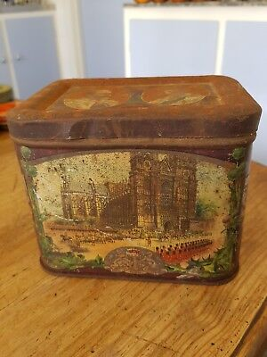 KING EDWARD V11 & QUEEN ALEXANDRA..Souvenir hinged lidded tin