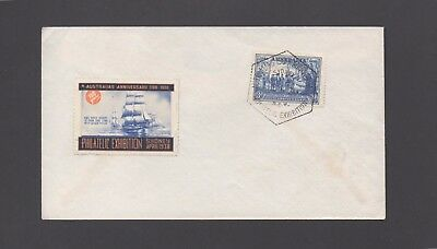 Australia stamp Cover with 3d NSW + Cinderella + Exhibition Cancel
