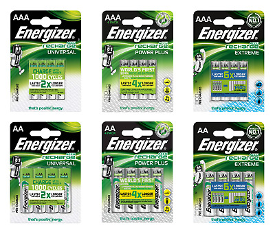 Piles ENERGIZER rechargeables AA AAA 500 700 800 1300 2000 2300 mAh HR6 HR03