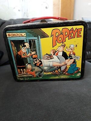 1964 Popeye Lunch Tin With Flask