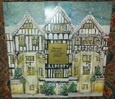 LIBERTY of LONDON ~ EMPTY Beauty ADVENT Calendar BOX ~ 25 DRAWERS~Christmas 2017