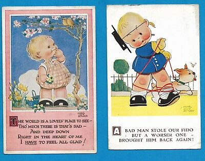 Two Mabel Lucie Attwell - Valentine's Postcards
