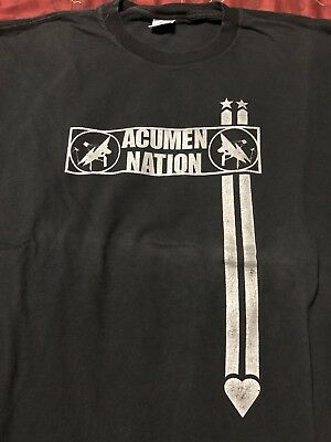 ACUMEN NATION More Human Heart Tour 1997 industrial concert shirt XL long sleeve