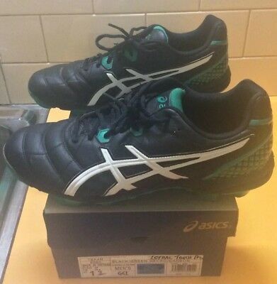Asics Lethal Touch Pro Mens Football Boots US11 Black/Green/White