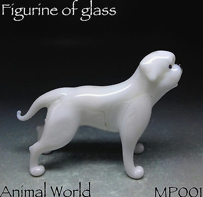 American Bulldog Blown Glass Figurine Collectible High quality Souvenirs Russia