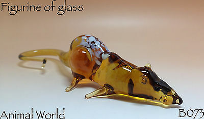 Figurine Blown glass Rat Souvenirs of Russian art home decor