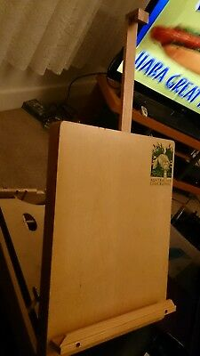 Australian Geographic Wooden ARTIST'S Portable EASEL Box for Painting Drawing