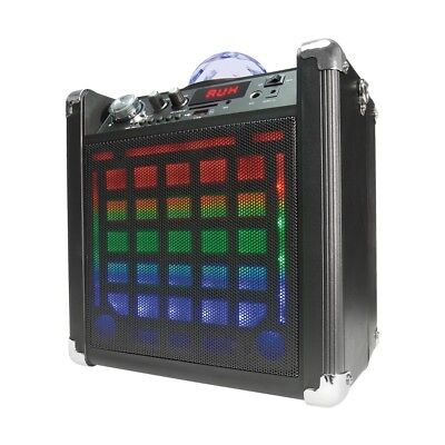 Bluetooth Party Speaker with Disco Light Portable Black Ball Microphone USB Slot