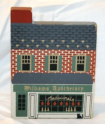 "Cat's Meow ""Williams Apothecary"" - Wood Shelf Setter - 1989"