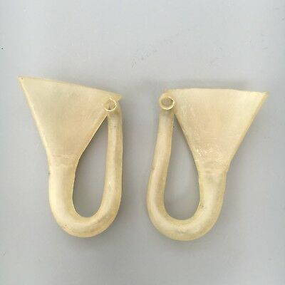 A Interesting Pair of unusual Hearing Aids or Ear Trumpets