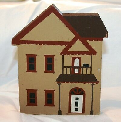 "Cat's Meow ""Victorian House"" - Wood Shelf Setter - 1983"