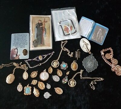 Vintage Job Lot Of Religous Pendants,items.