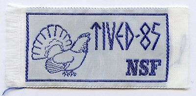 Sweden Swedish Patch Scout NSF Tived 1985 Badge Nice Grade !!!