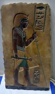 RARE ANCIENT EGYPTIAN ANTIQUE AMENHOTEP PHARAOH King Hunting Limestone Stela BC