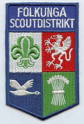 Sweden Swedish Scout District Folkunga Patch Badge High Grade !!!