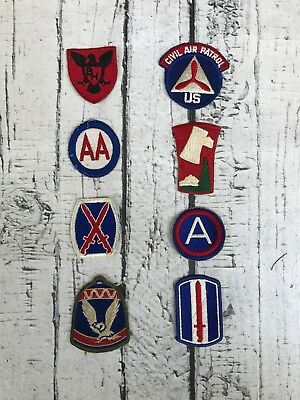 Vintage WWII to Modern Era Army Patches including 70th Div, 86th Div, Third Army