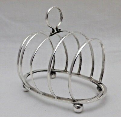 Antique Solid Sterling Silver 5 Hoop Toast or Letter Rack B'Ham 1919