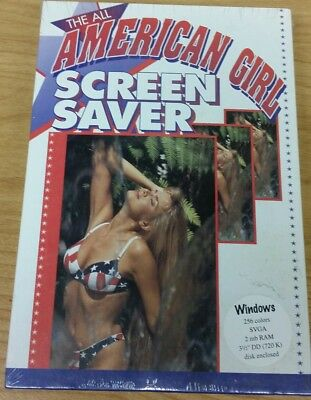 The All American Girl For Windows Screen Saver Collection (PC, 1993) Brand new