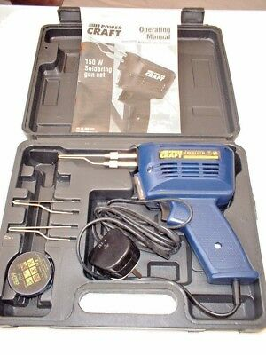 150w Electric Electrical Solder Soldering Iron Gun Kit 240v