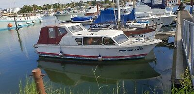 senior 26  foot 4 berth  motor boat project with inboard  50 HP diesle engine