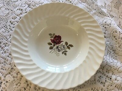 Royal Wessex Red & White Rose - Soup Dishes With Large Lip Rim - VINTAGE