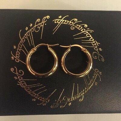 Hobbit the One Earrings * NEW * Gold Plated