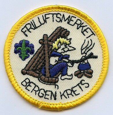 Norway Patch Scout Bergen Krets Badge High Grade !!!