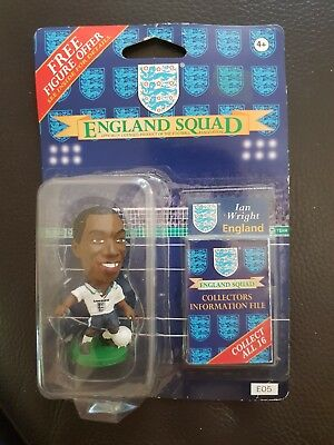Ian wright  (England) 1995-96 Corinthian Figure (E05) with Collector card New