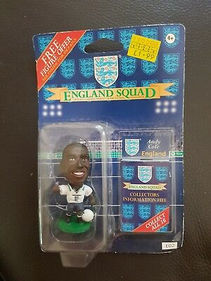 Andy Cole  (England) 1995-96 Corinthian Figure (E02) with Collector card New