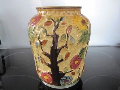 Pottery Vase by H J Wood - Indian Tree 573 vgc