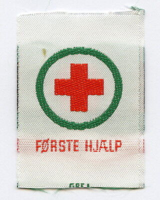 Denmark Danish Scout Patch Red Cross First Aid Badge High Grade !!!