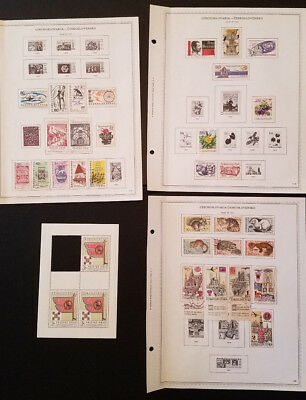 Hondo * Lot of Czechoslovakia 26 pages * Years 1967 to 1972 Stamps * Used/MH