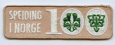 Norway Scout Patch 100th Anniversary Badge High Grade !!!