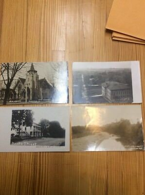 4 Postcards Miamisburg Mesopotamia Oxford And W. Milton Ohio RPPC INV-P1133