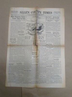1941 Allen County Times New Haven Indiana Newspaper INV-P412