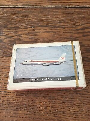 TWA Collector's Series Deck of Playing Cards Convair 880-1961- Original wrapper