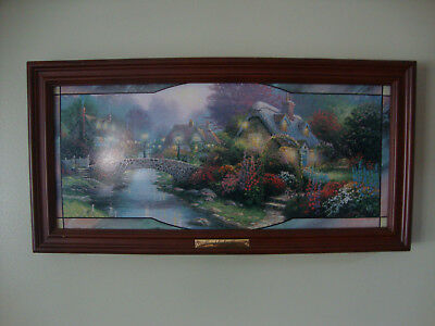 Thomas Kinkade Lamplight Lane light up picture Bradford Exchange