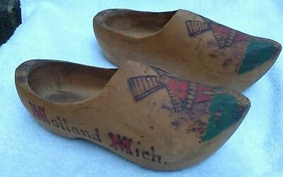 Circa 1949 Hand-carved Child's Dutch Shoes from Holland, Michigan