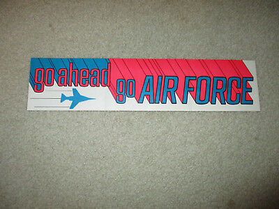 go ahead go AIR FORCE Sticker rare USAF 1975 vintage psychedelic pop art F-4 jet
