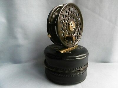 Hardy Lrh Lightweight  Fly Fishing Reel + Case / Pouch + Orvis Line  Immaculate!