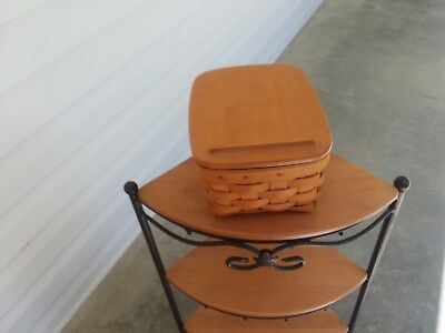 Longaberger Address Basket Combo with lid and Protector Set 1999