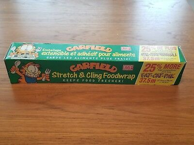 Garfield the Cat Stretch and Cling Foodwrap Fat-Cat-Pak Brand New in Box