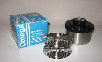 Omega 35Mm Film Developing Tank & Reel-Laboratory Grade Stainless Steel-Nos