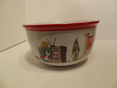 Looney Tunes Warner Bros Large Bowl 11 in x 6 in Snack Bowl 1997 Issue