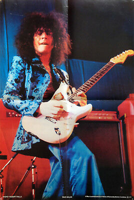 Poster of Marc Bolan on stage at the Empire Pool, Wembley