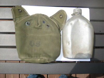 WWI WWII US ARMY CANTEEN 1918 LF&C with cover