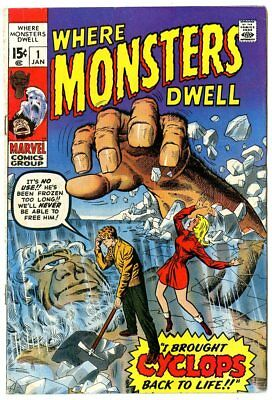 Where Monsters Dwell #1 FN+ 6.5 ow/white pages  Marvel 1970  No Reserve