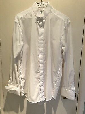 Mens White Wing Collared Dress Shirt Size 15.5 Collar From Youngs